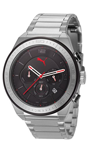 Puma PU102911001 Edge Black Silver Watch