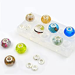 Lychee Silicone Beads Mold Making Mould with Hole DIY Bracelet Necklace Jewelry Handmade