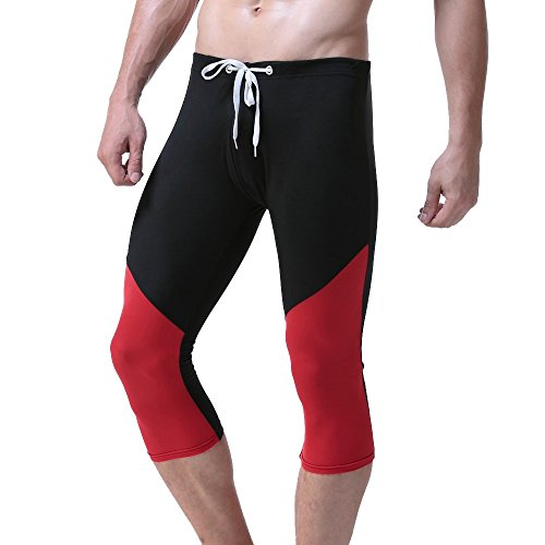 Sport Costumi Sagomati Sportivi Bagno pantaloni Uomo Lacci Pantaloni Biancheria Da Da Nero Tagliati Yunyoud Intima Fitness Slim Ciclismo pxZgRq8n
