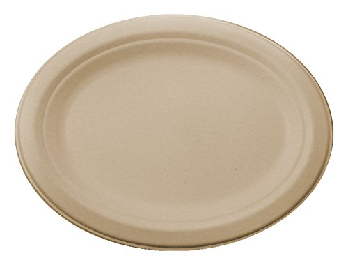 World-Centric-100-Biodegradable-100-Compostable-Bagasse-12-Inch-Plant-Fiber-Oval-Plates-Package-of-250