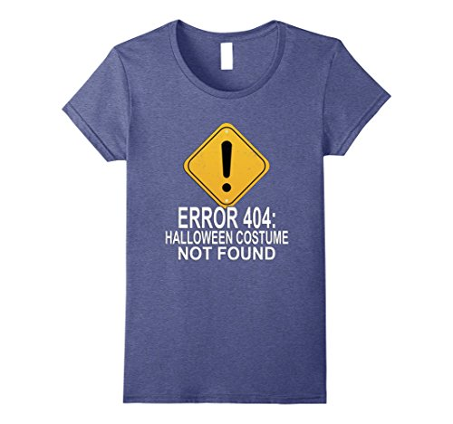 Code 404 Error Costume (Womens Funny Error Code 404 Halloween Costume Not Found T Shirt Small Heather)
