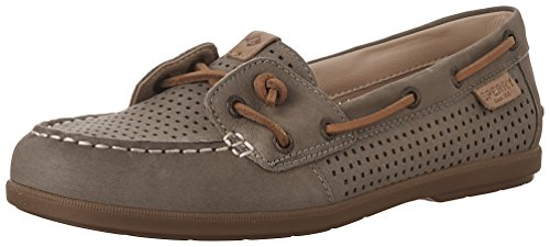 Sperry Top-Sider Women's Coil Ivy Perf Boat Shoe, Olive, 5.5 M US