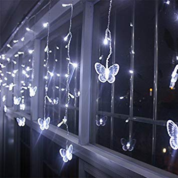 Warm White 4m Led Curtains Butterfly Garland String Lights
