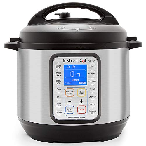 Instant Pot Duo Plus 9-in-1 Electric Pressure Cooker, Slow Cooker, Rice Cooker, Steamer, Saute, Yogurt Maker, and Warmer, 6 Quart, 15 One-Touch Programs