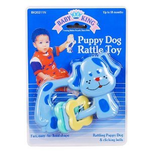 Baby King Puppy Dog Rattle Toy (Color Blue)
