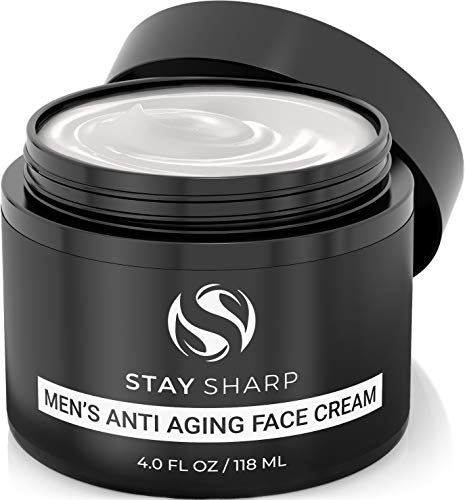 41adPLZUSUL - Anti Aging Face Cream For Men - Mens Face Moisturizer and Facial Lotion for Younger Looking Wrinkle Free Skin - 4oz