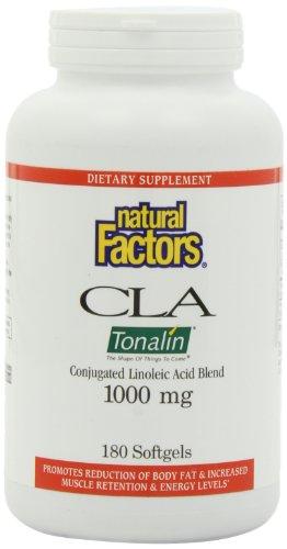 Natural Factors CLA Tonalin Conjugated Linoleic Acid Softgels, 180-Count