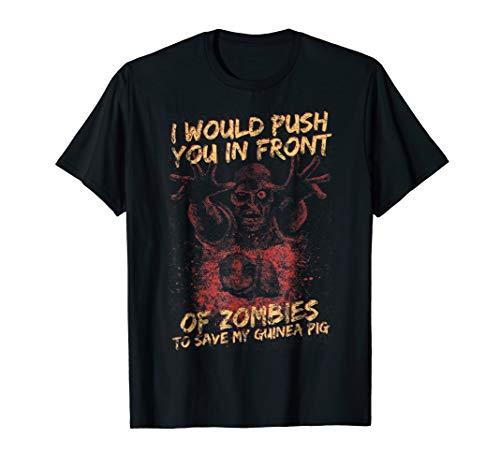 Halloween Zombie Save My Guinea Pig Tee For Men, Women & Kid ()