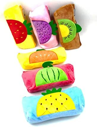 Buy Pack Of 6 Fruits Theme Super Soft Superb Quality Pencil Pouch