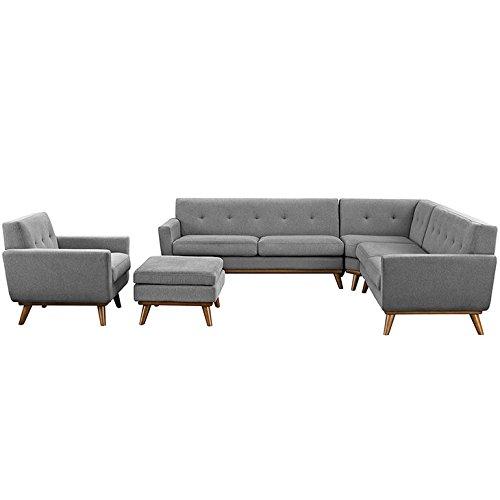 engage mid century modern upholstered