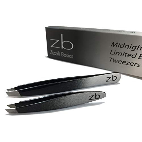 Zizzili Basics Tweezer Set - Limited Edition Ombre - Classic + Mini Slant - Best Tweezers for Eyebrow, Facial Hair Removal and your Precision Needs - The Perfect ()