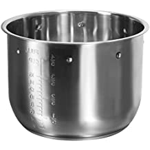 Elite Platinum EPSS-808 Maxi-Matic 8 Quart Pressure Cooker Inner Pot with 3-Ply Encapsulated Base, Grade 18/10 Stainless Steel