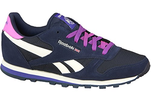 001 blue Enfant Mehrfarbig Mixte Reebok Classic Ar2041 Leather Baskets xw8HFwanpP