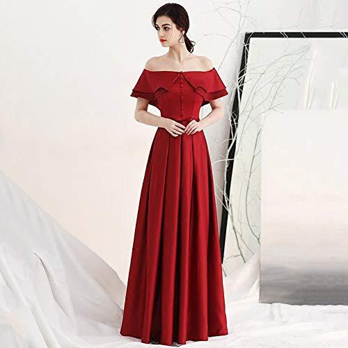 corto abito sera da femminile WFL corto vino estate Abito da sposa da tubo da rosso lungo sposa rosso sera nuziale abito abito qYpZY