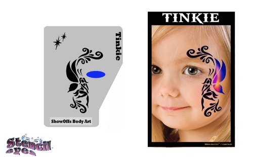 Face Painting Stencil - StencilEyes Profile Tinkie - Fairy (Face Painting Designs Halloween)