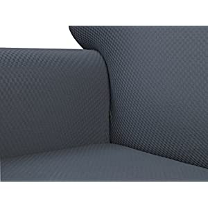Anti-Slip Jacquard 1-Piece Spandex Stretch Elastic Pet Dog Sofa Couch Cover Slipcover Non-Slip Arm-chair Love-Seat Furniture Protector Shield 1 2 3 Seater T Cushion L Shaped (Loveseat - Gray)