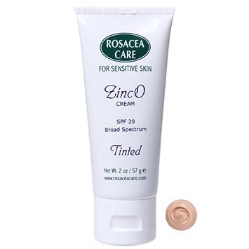 TINTED ZincO – SPF 20 – Sunscreen, Concealer, Moisturizer for rosacea 2 oz