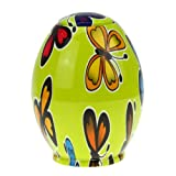 Holiberty Novelty Egg-shaped ABS Pop-Up Toothpicks Holder Tableware Automatic Dispenser Home Hotel Decoration(Butterfly Pattern)