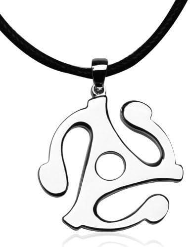 Titanium Steel Survivors 45 Rpm Record Adapter Necklace Pendant Necklace,Survivors 45 Necklace