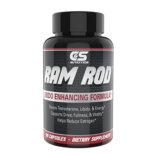 RAM ROD– Increase Drive, Increase Testosterone, Increase Energy. Premium Horny Goat Weed, Vitamins B6, DIM, Chrysin, Maca (Nutrition Horny Goat Weed)