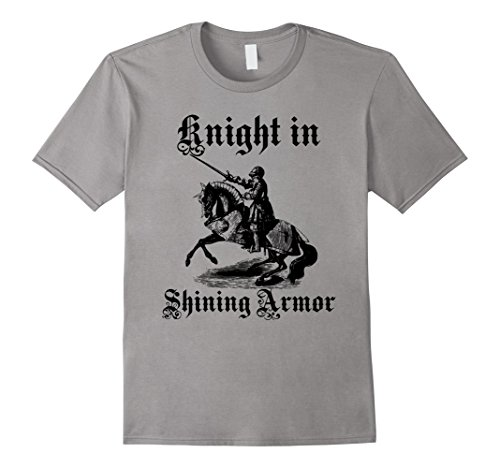 Mens Knight In Shining Armor Medieval and Renaissance T Shirt Medium (Mens Knight In Shining Armor Costumes)
