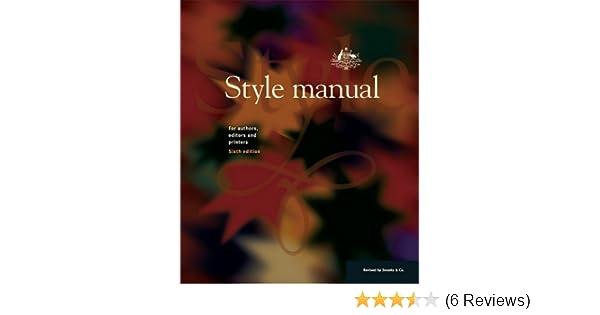 amazon com style manual for authors editors and printers rh amazon com