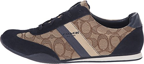 Coach Vrouwen Kelson Laag Top Lace Up Mode Sneakers Khaki / Midnight