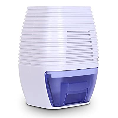 hysure Small Dehumidifier Electric, Portable Air Purifier Dehumidifier Bathroom Dehumidifier for Baby Room, Home, Crawl Space, RV, White
