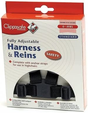 Navy Clippasafe Walking Harness and Reins