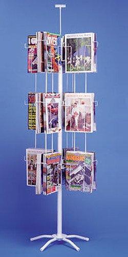 New 24 Pocket 8.5 X 11 Inch Magazine Spinner Display Rack
