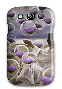 Jordan oglesby's Shop 5397788K18015406 Tpu Case Cover For Galaxy S3 Strong Protect Case - Girl With Purple Flowers Design