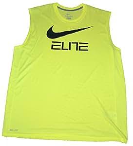 New Nike Men's Qt Sleeveless Elite Graph Shirts Bright Green 658469 702 XL