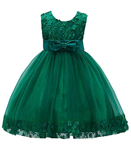 (KISSOURBABY Big Girls Wedding Christmas Dresses Child Party Host Bowknot Summer Holiday Dress Size 8 9)