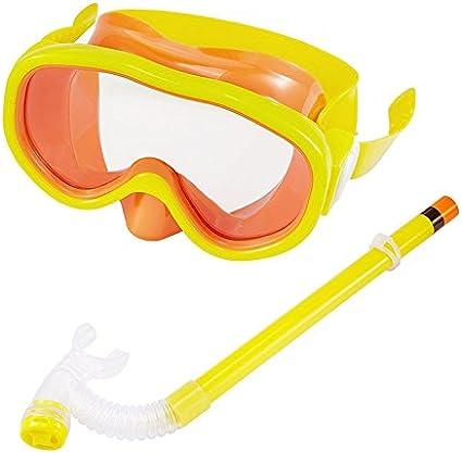 esn/órquel y Otras Actividades bajo el Agua Amarillo Amarillo Tofree Fashion Gafas de nataci/ón para ni/ños con Tubo de respiraci/ón de pl/ástico para Buceo