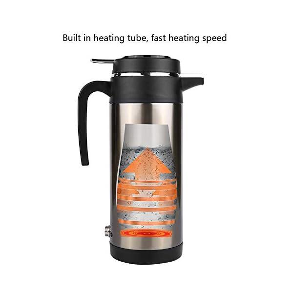 41adULIHU0L Wasserkocher 1200ML 12 V / 24 V Edelstahl Elektrische In auto Wasserkocher Reise Thermoskanne Heizung Wasserflasche…
