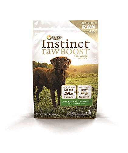 Instinct Raw Boost Grain Free Lamb & Salmon Meal Formula Natural Dry Dog Food by Nature's Variety, 23.5 lb. Bag