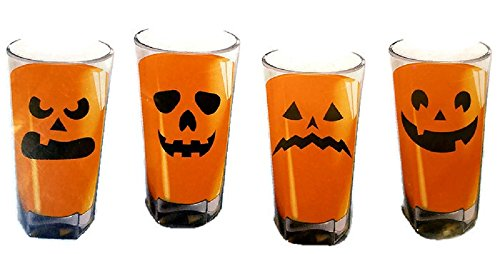 Halloween Party Supply Pumpkin Jack O Lantern Glass Clings Set of 16