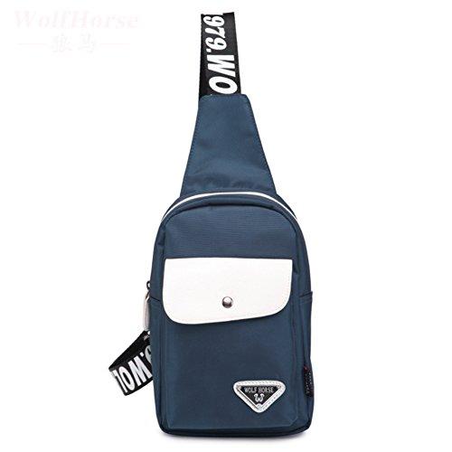 chest Pack para hombres y mujeres/Bandolera casual/bolso de hombro inclinado/deportes/Pequeño bolso impermeable-A A