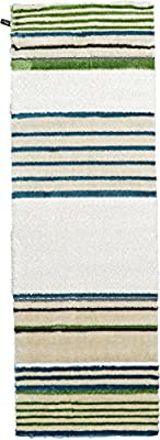 Modern Abstract Plush 3 feet by 10 feet (3' x 10') Runner Abstract Shag Ivory Contemporary Area Rug