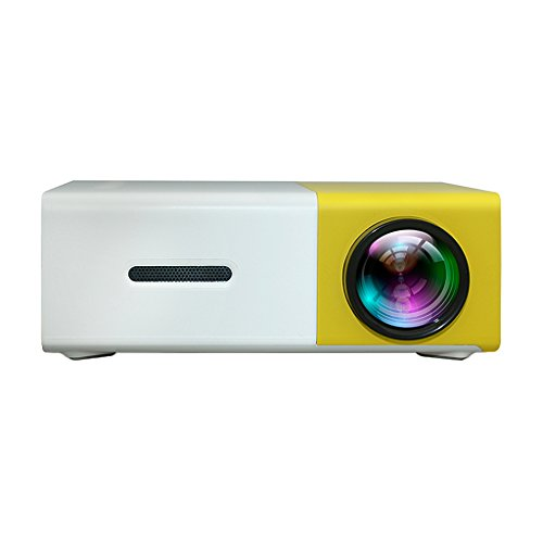 Homyl Home Cinema LED LCD Mini Proyector HDMI Video Portátil USB/AV/SD Amarillo