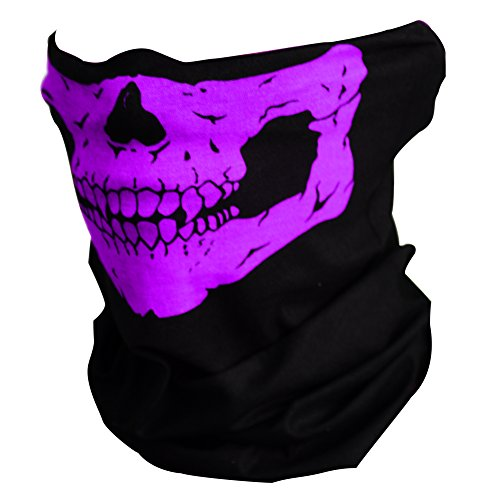 CIKIShield Couples Seamless Skull Face Tube Mask Black (4pcs-Color Set-B)