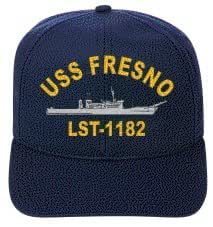 USS FRESNO LST-1182 EMBROIDERED SHIP CAP