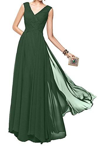 Dunkel V Tanzenkleider Elegant Braut Formal La Marie Abendkleider Damen Ausschnitt Lang Gruen Brautjungfernkleider xaPIRSqf