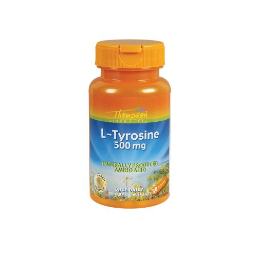 Thompson L-Tyrosine, 500 mg, 30 Count (Pack de 2)