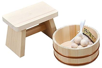 Sgabello in legno per bagno: sgabello bagno in legno shabby verde