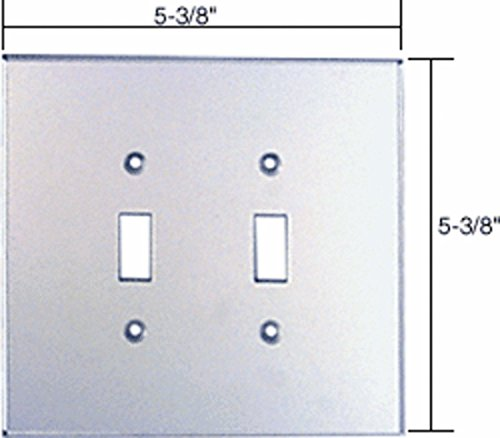 CRL Double Toggle Acrylic Mirror Plate - Clear by C.R. Laurence