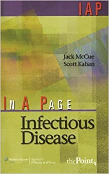 In A Page Infectious Disease (In a Page Series) by McCue MD Jack Kahan Scott (2006-11-01)