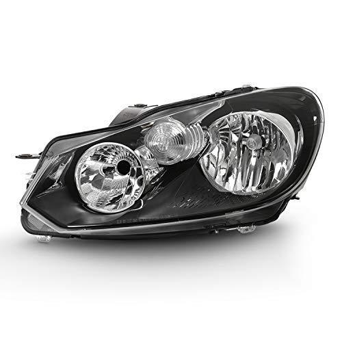 (For MK6 2010 2011 2012 2013 2014 VW Golf   10-14 Jetta Wagon 4-Door Headlight Headlamp Driver Left Side Replacement)