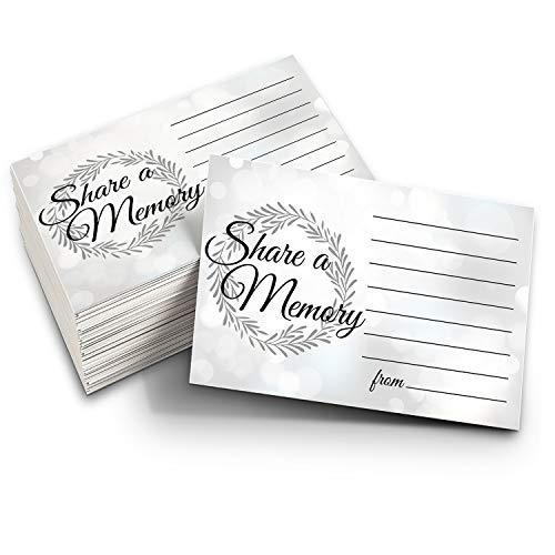 Share a Memory Cards - Pack of 100 Cards for High School Reunion, Celebration of Life, Funerals and Memorials (Best High School Memory)
