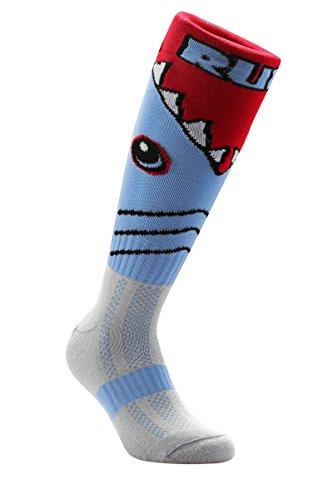 Samson Hosiery ® Funky Shark Pattern Socks | Casual Wear | Soccer (Shark Soccer Socks compare prices)